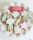 Summer Ocean Decorated Cookies