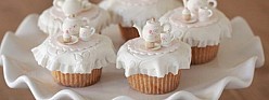 Vanilla Pumpkin Spice Cupcakes + Tea Party Cupcake Toppers