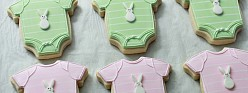Onesie & Elephant Baby Shower Cookies {How-To}