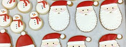 Santa Claus Decorated Cookies