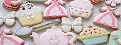High Tea Party Decorated Cookies