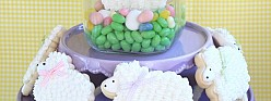 Easter Bunny & Lamb Decorated Cookies