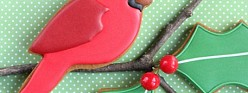 Simple Cardinal Gingerbread Cookies