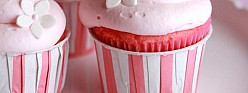Pink Lemonade Cupcakes with Marshmallow Cloud Frosting