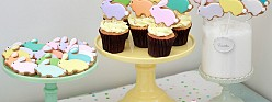 Lemon Cupcake Recipe + Bunny Cookie Pops