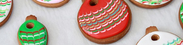 Marbled Christmas Cookie Ornament How-To