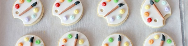 Covering Cookies with Fondant & Art Palette Decorated Cookie Tutorial