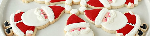 Candy Cane Cut Out Sugar Cookies