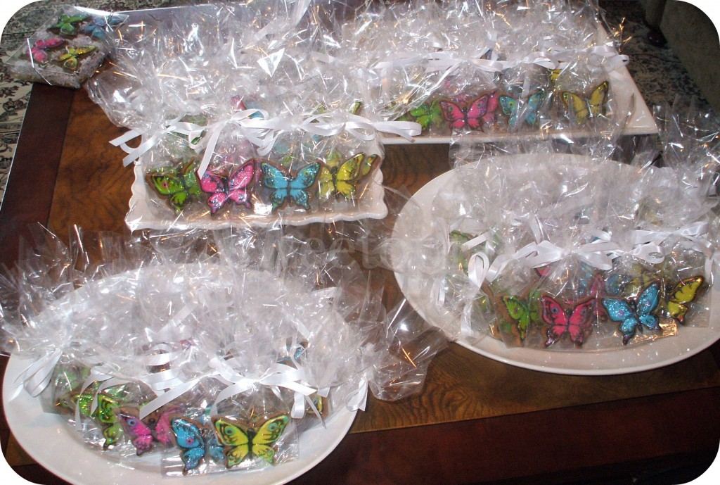 Butterfly Cookies ready to go