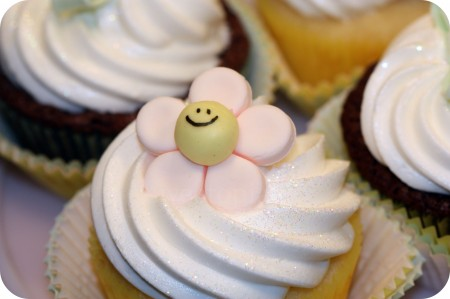 cupcake flower close up