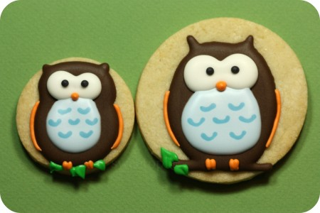 decorated owl cookies