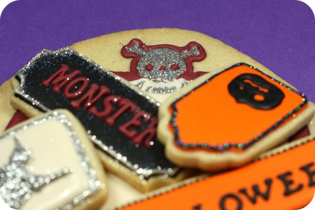 Monster decorated halloween cookies skull pumpkin witch
