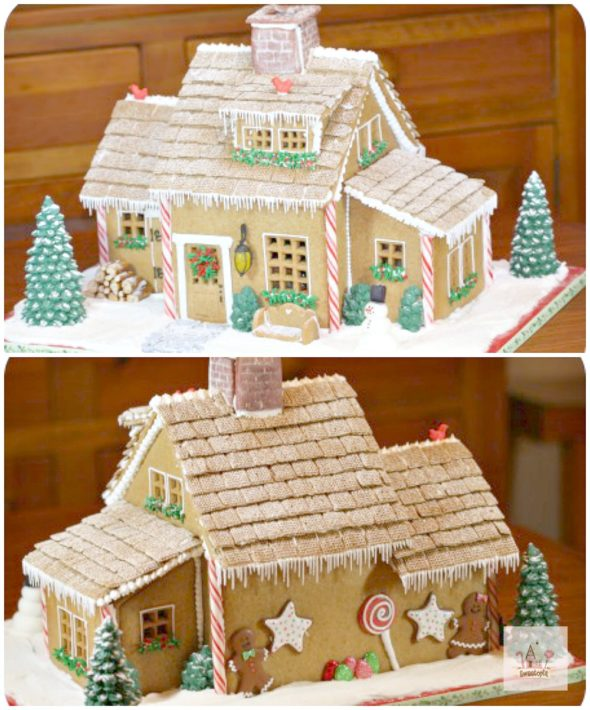 Christmas Gingerbread House on Sweetopia