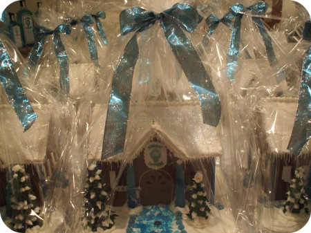 Wrapped Bombay Sapphire Gin Gingerbread Houses
