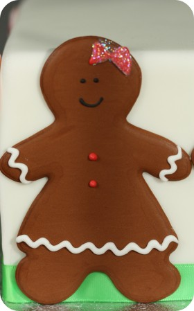 gingerbread girl floodwork