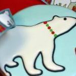 polar bear decorated cookie