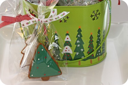 trees on bucket inspiration for decorated cookies