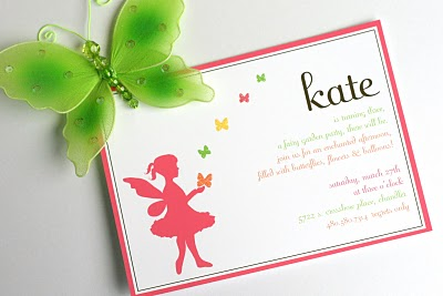 Invitations for fairy garden party