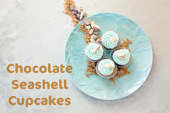 chocolate-seashell-cupcakes