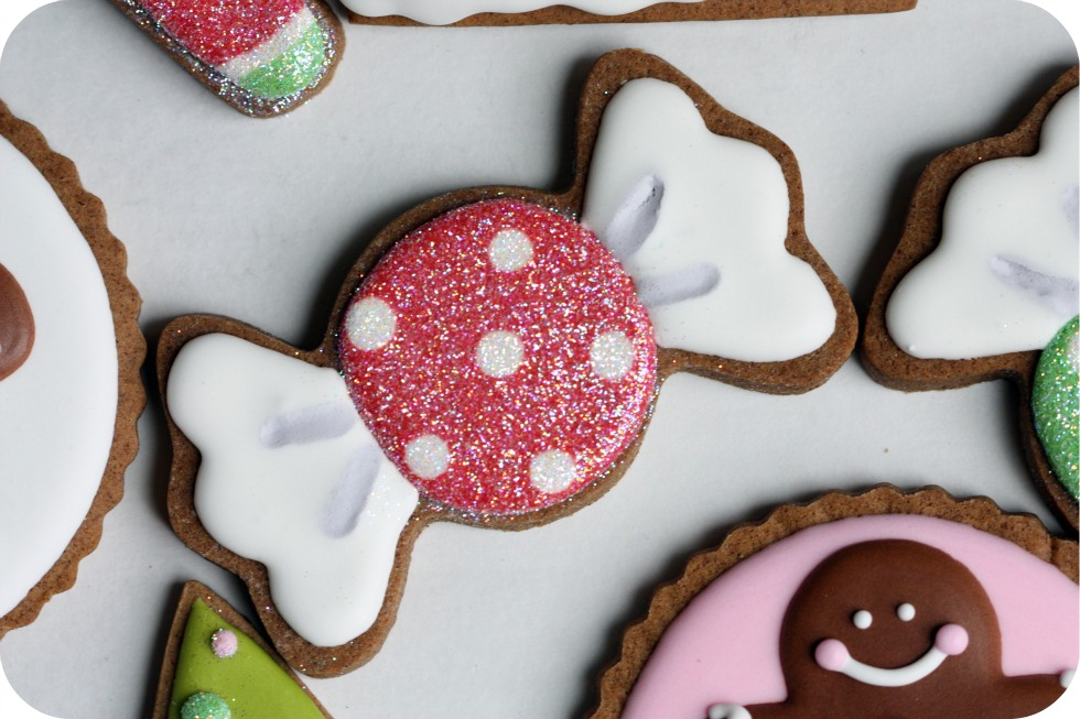 candy decorated cookie christmas