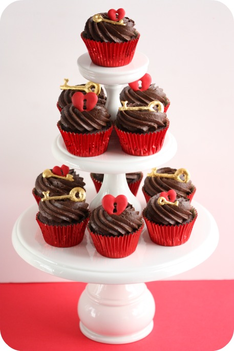 Key to Your Heart {Cupcakes}