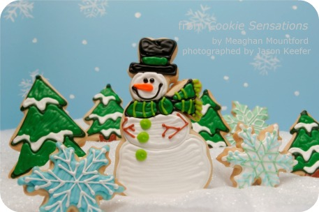 snowman-in-forest-decorated-cookies