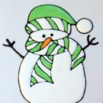 snowman royal icing transfer