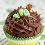 turtle on a cupcake