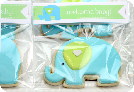 Baby Shower Cookie Images ~ Decorated elephant cookies sweetopia