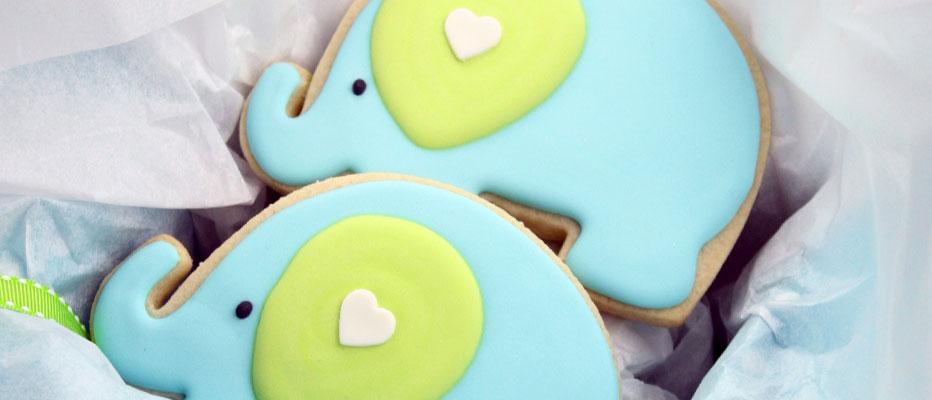 Decorated Elephant Cookies Sweetopia