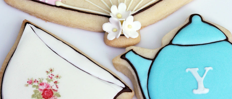 Tea Party Decorated Cookies