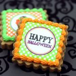 happy halloween edible image cookie