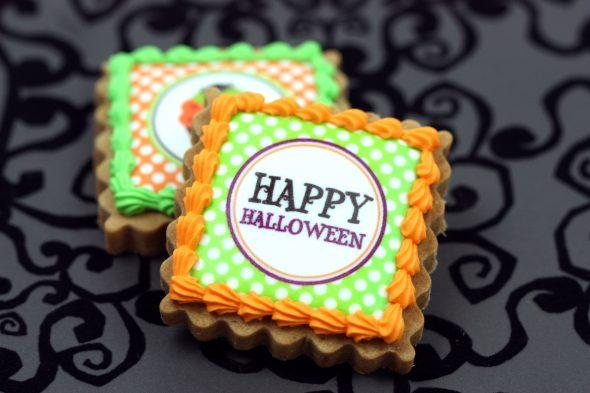 Halloween Edible Image Cookies