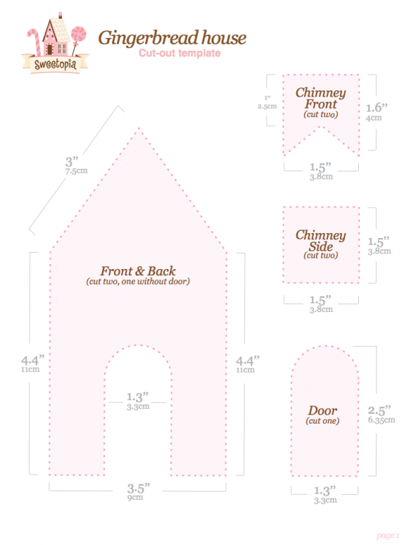 ... Gingerbread House & {Free Printable} Gingerbread House Template