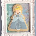 cinderella decorated cookie