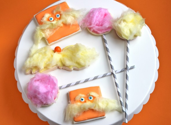 The Lorax Decorated Cookies