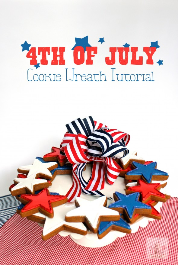 How to Make a 4th of July Cookie Wreath