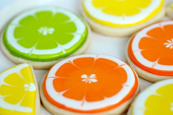 how to make lemon orange or lime decorated cookies - Sugar Cookie Decorating