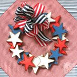 star cookie wreath for fourth of july