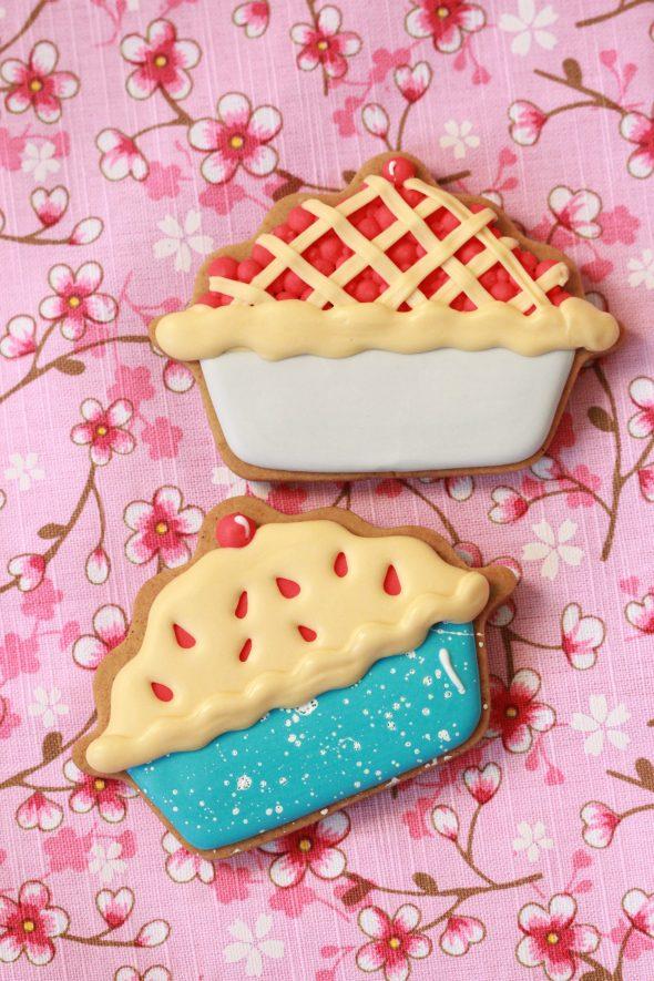 Decorated Cherry Pie Cookies