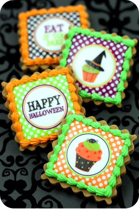 spider web decorated cookies pin it - Decorating Halloween Cookies