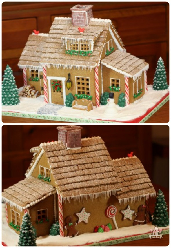 picture about Printable Gingerbread House referred to as Xmas Gingerbread Area Programs Sweetopia