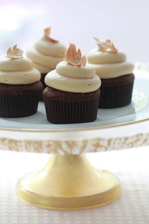 Autumn Chocolate Caramel Cupcakes