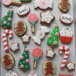 Green, Red and White Christmas Cookies