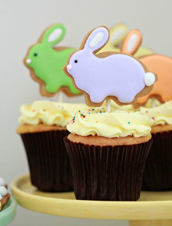 Lemon Cupcake Recipe + Bunny Cookie Pops