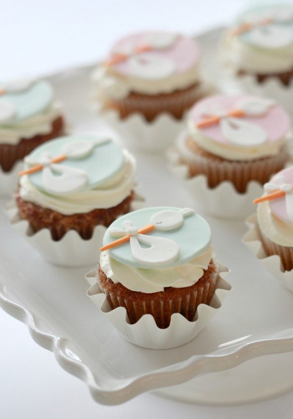 Stork Cupcake Toppers Sweetopia