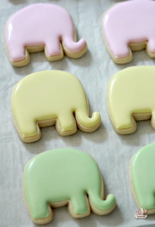 Onesie And Elephant Baby Shower Cookie Tutorial Sweetopia