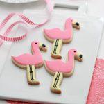 Flamingo Decorated Cookies