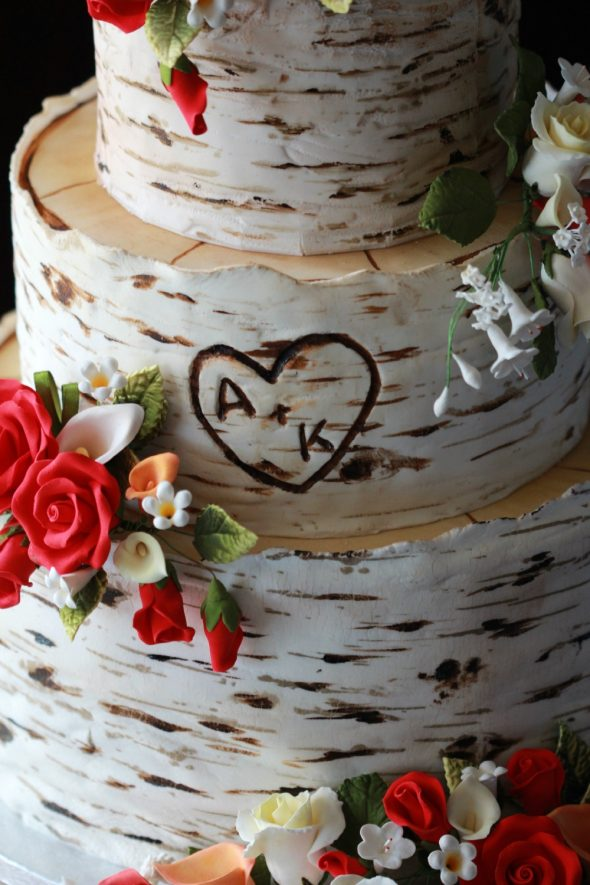 Birch Tree Wedding Cake Sweetopia