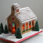 Horizontal Gingerbread Church
